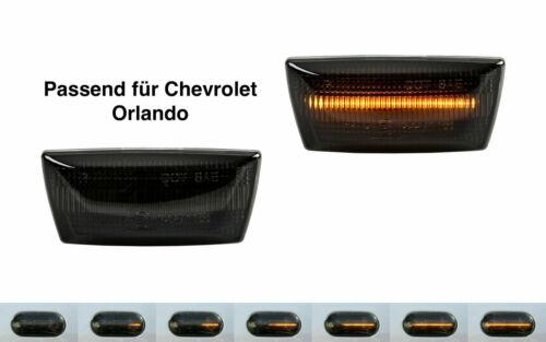 2 x dynamique DEL Clignotants Latéraux Clignotants Smoke for Chevrolet Orlando j309 sb15