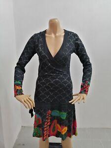 Vestitino-DESIGUAL-Donna-Taglia-Size-M-Dress-Woman-Pull-Femme-Vestito-Cotone7502