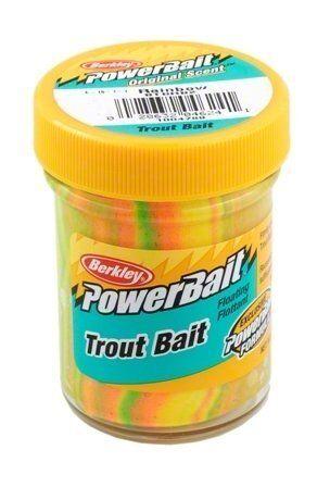 Berkley Power Bait Trout Bait Glitter Bread Crust 1x50g Glas Forellenköder
