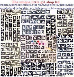 GLITTER-TATTOO-KIT-boys-girls-158-stencils-glitters-glue-ideal-gift-fundraising