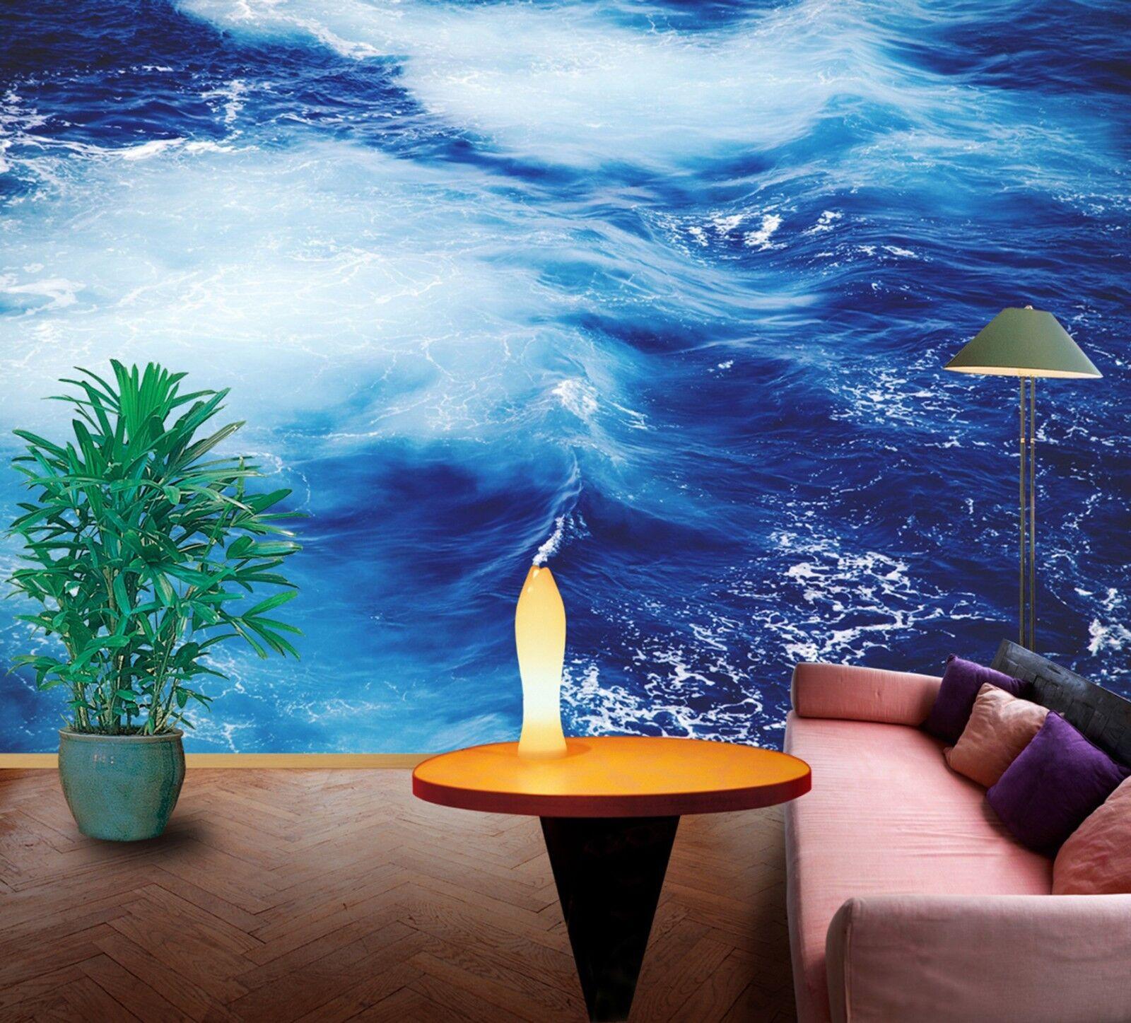 3D Blaue Meereswellen 972 972 972 Tapete Wandgemälde Tapeten Bild Familie DE Lemon | Innovation  | Won hoch geschätzt und weithin vertraut im in- und Ausland vertraut  | Lebensecht  a29895