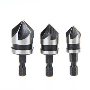 3Pcs-90-Hex-5-Flute-Countersink-Drill-Bit-Set-Counter-Sink-Chamfer-Cutter-12-19m