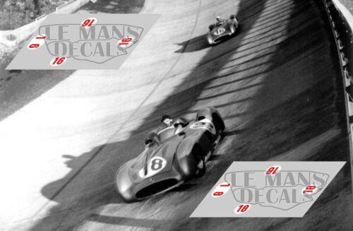 Calcas Mercedes W196 streamliner GP Italy 1955 1:32 1:24 1:43 1:18 196 decals