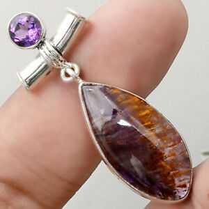 Cacoxenite-Super-Seven-Mineral-and-Amethyst-925-Silver-Pendant-Jewelry-SDP51417