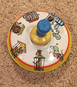 SALE Vintage Ohio Art Top Circus Theme Made in the USA Metal