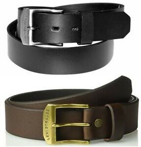 New-Levi-039-s-Strauss-Men-039-s-Casual-Leather-Harness-Belt-Black-11LV0204