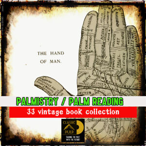 Palmistry-Palm-reading-Chiromancy-33-vintage-book-collection-Learn-fortune