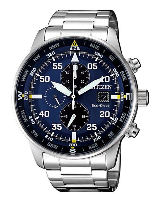 Citizen Of Crono Aviator Quartz Watch Eco Drive B612 44 Mm Ca0690 88l For Sale Online Ebay