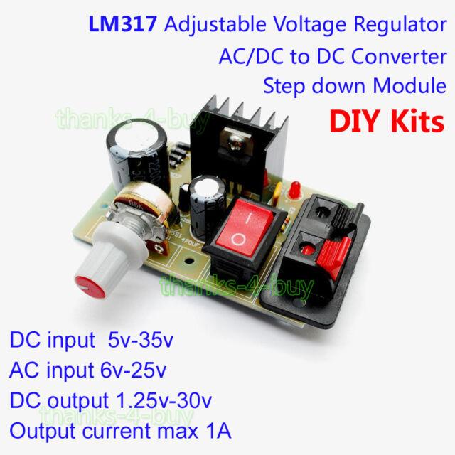 LM317AC/DC to DC 3.3V 5V 9V 12V Step Down Power Supply Regulator Module DIY Kit