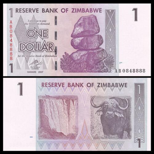 Zimbabwe 1 Dollar 2007 P-65 UNC