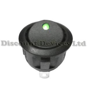 Illuminated-Round-Rocker-Switch-12V-Green-LED-Light