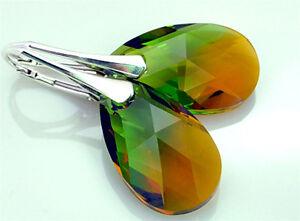36-Farben-ALMOND-MANDEL-22-mm-Ohrringe-mit-Swarovski-Silber-925-Geschenkbox