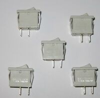 5 X Joemex 83 Series Miniature Rocker Switches - Spst - 125v 15a - 250v 10a