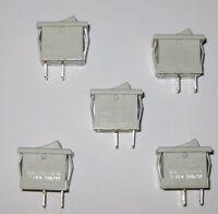 5 X Joemex 83 Series Miniature Rocker Switches - Spst - 125v 15a - 250v 10a