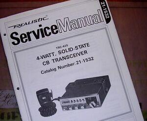 realistic radio shack manuals