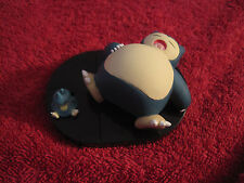 2 Pokemon Figure:Relaxo+Mampfaxo,Zukan/Yujin/Tomy(Snorlax+Munchlax)gebraucht/F42