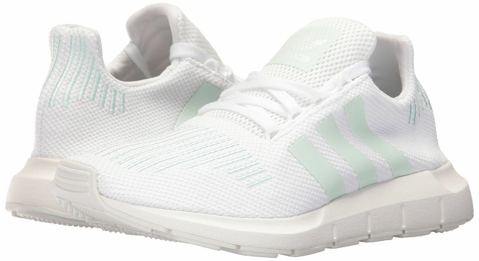 adidas Originals Women's Swift W Running-Shoes,White/Grey One/Ice Mint, 9 1/2