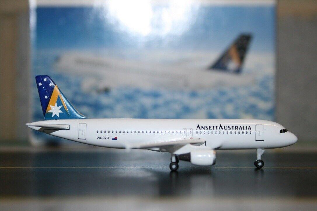 Alas de dragón 1 400 Ansett Airbus A320-200 VH-HyH (55011) Fundición Modelo de Avión