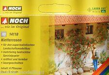 NOCH 14118 Spur H0, Laser-Cut minis, Kletterrosen, 6 Pflanzen, Neu