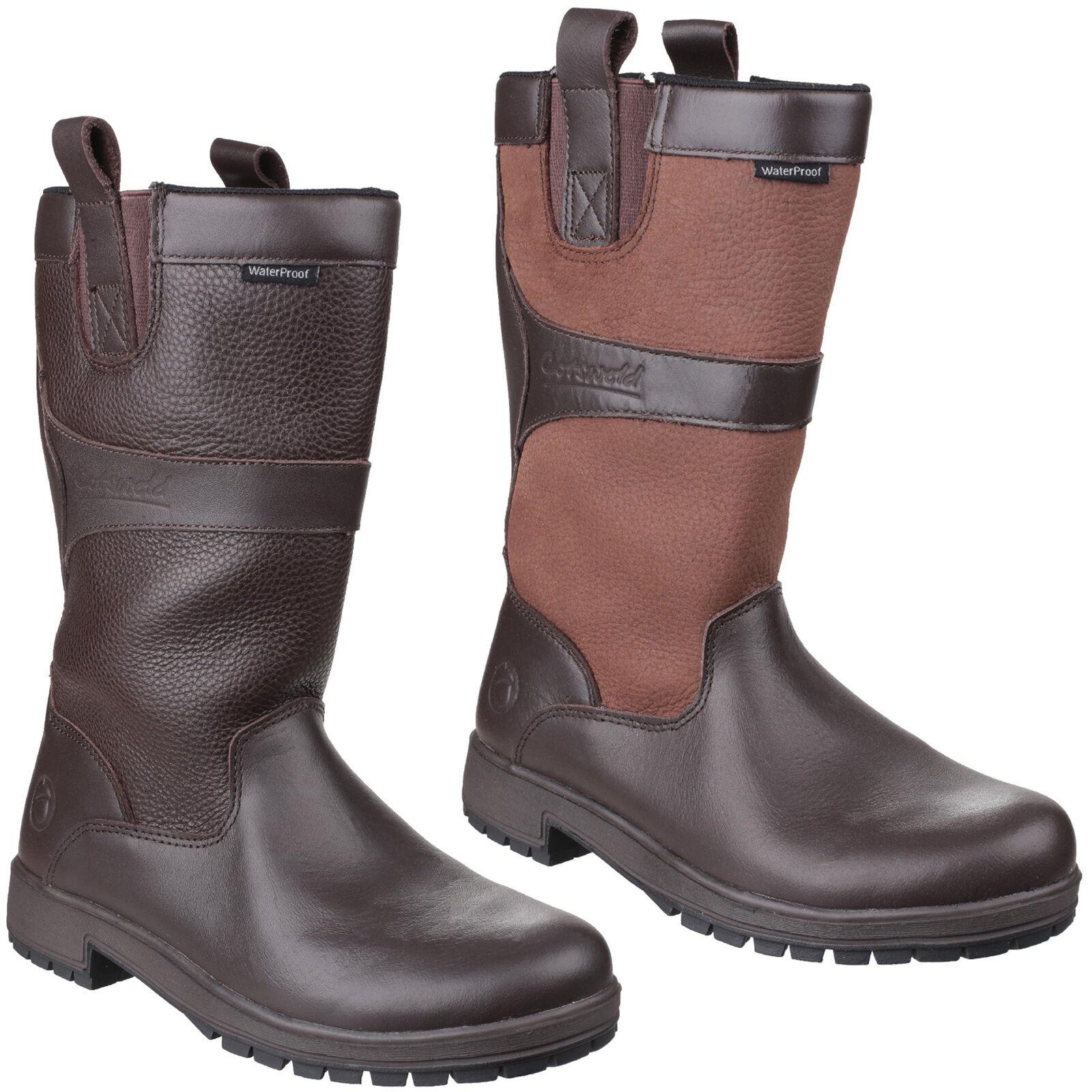 Cotswold Ascot Wasserfeste Stiefel Damen Hineinschlüpfen Gummistiefel UK4-8