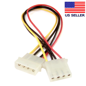 12-inch Molex 4-Pin LP4 Power Extension Cable M//F