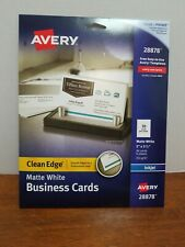 Avery Printable Business Cards Inkjet Printers 90 Cards 2 X 35 Clean Edge White