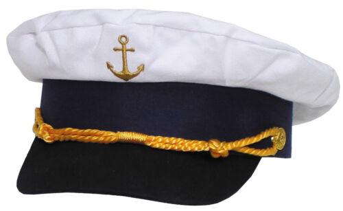 54 58 MFH Marine-Schirmmütze Marinemütze Kapitänsmütze Offiziersmütze Weiß Gr