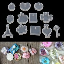 12Pcs DIY Silicone Pendant Mold Making Jewelry Pendant Resin Casting Mould Tools