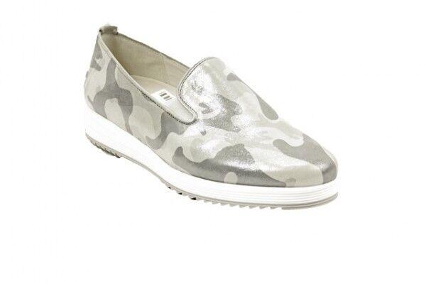 Gabor 22.560.10 Damen-Schuhe Military metallic grau (Sohle weiß) Wechselfußbett