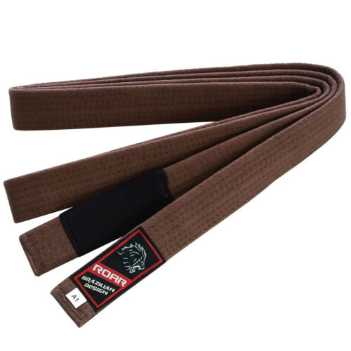 ROAR BJJ Gi Rank Belts Jiu Jitsu MMA Adult Gi Rank Belt A1 A2 A3 A4