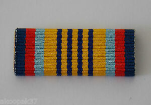 AUSTRALIAN CADET FORCES SERVICE MEDAL RIBBON BAR WITH 2 PINS FOR ATTACHMENT