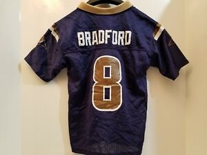 c2d8993a NFL APPAREL ST LOUIS LOS ANGELES LA RAMS #8 Sam Bradford Kids Large ...