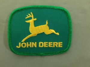 John Deere Embroidered Iron On Automotive Patch.