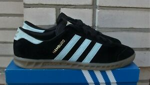 Details about Adidas Hamburg S74833 Trainers in Core Black/Blue/Vintage White,US11 UK10.5