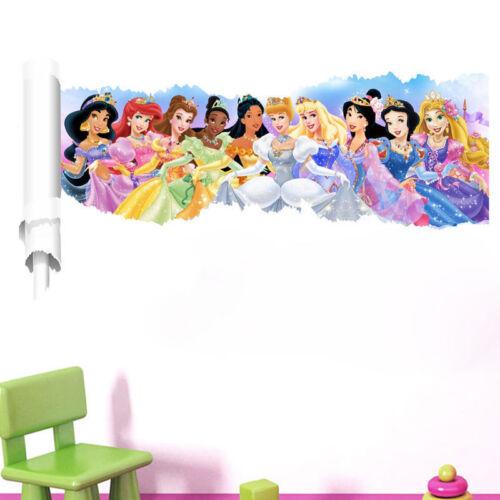 3D Princesses Wall Sticker Home Decor Wall Decal 30 x 90cm Kids Room USA Seller