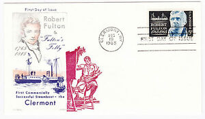 USA-1965-FDC-First-Day-of-Issue-Clermont-Robert-Fulton-TB-1600