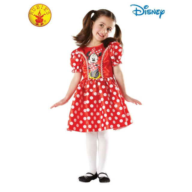 Rubie's Licensed Minnie Mouse Classic Dress Up Costume Size 3-5 **FREE DELIVERY*