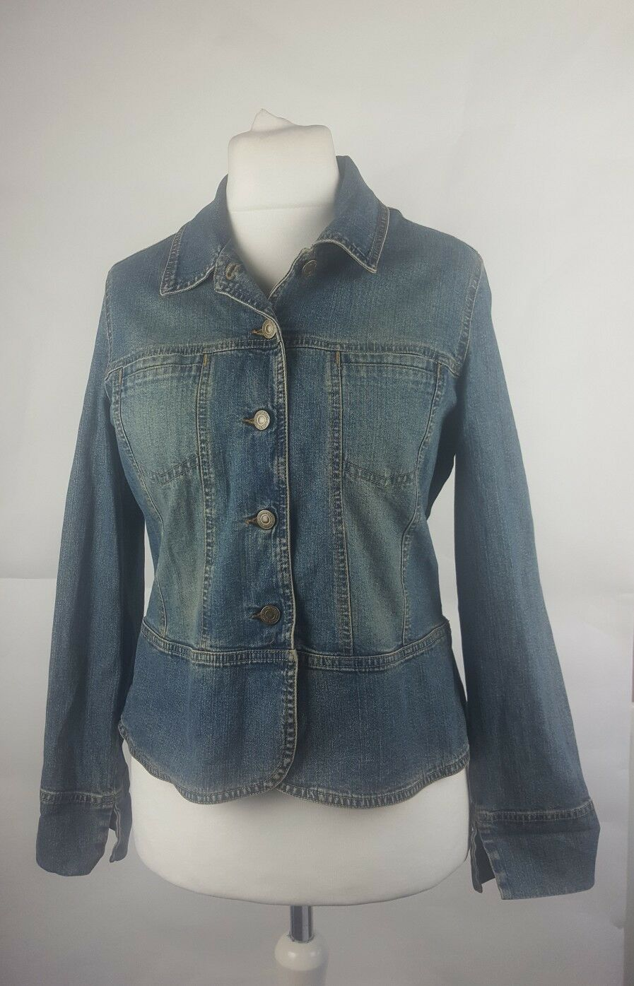 e2d47d1c34bb Femmes Denim Veste Marks Spencer Mix Taille Bleu amp  Jeans qwCHxt4H