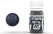 AK Interactive AKI-487 Xtreme Metal Blue Electric Metallic Paint 30ml Bottle