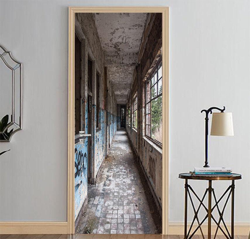 3D Corridor 436 Wall Stickers Vinyl Murals Wall Print Deco AJSTORE UK Kyra