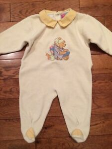 0c05b8532d67 Details about 12 month 1 piece OUTFIT Disney Winnie The Pooh Bear Sleeper  Pajamas Baby Pj mo