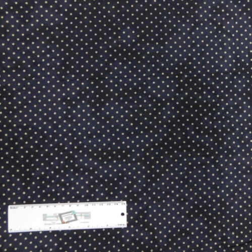 Patchwork Quilting Sewing Fabric Dark Navy /& White Stars 50x55cm FQ New