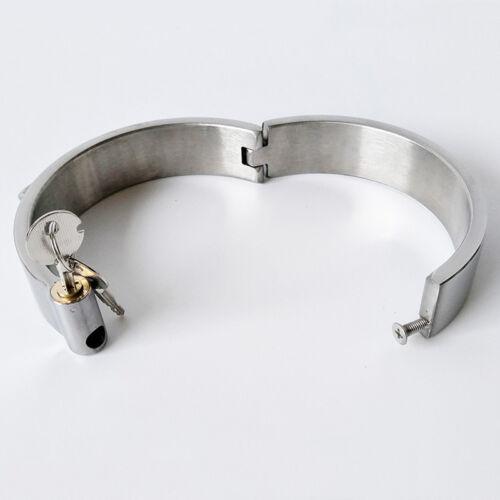 2CM stainless steel neck collar with lock neck corset cuff bondage Men Women