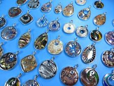 US seller-12pcs wholesale handcrafted lampwork Murano glass pendants DIY scarf