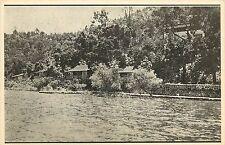 Vintage Postcard; Jago's Resort Cottages on Clear Lake, Lower Lake CA, Rates