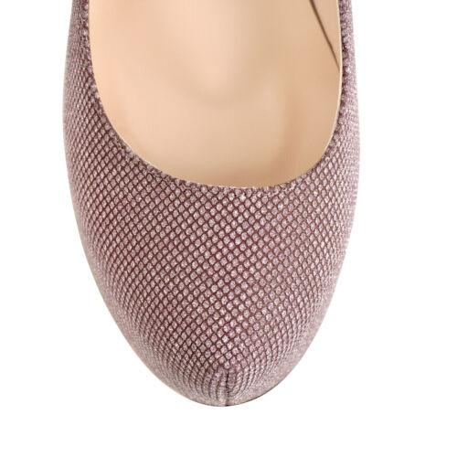 Onlymaker Women Platform Sequins Stilettos High Heel Shoes Slip on Wedding Pumps