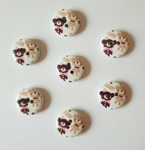 Mignon Pussy Cat /& Teddy Bear boutons taille 15 mm-idéal pour Baby Knits