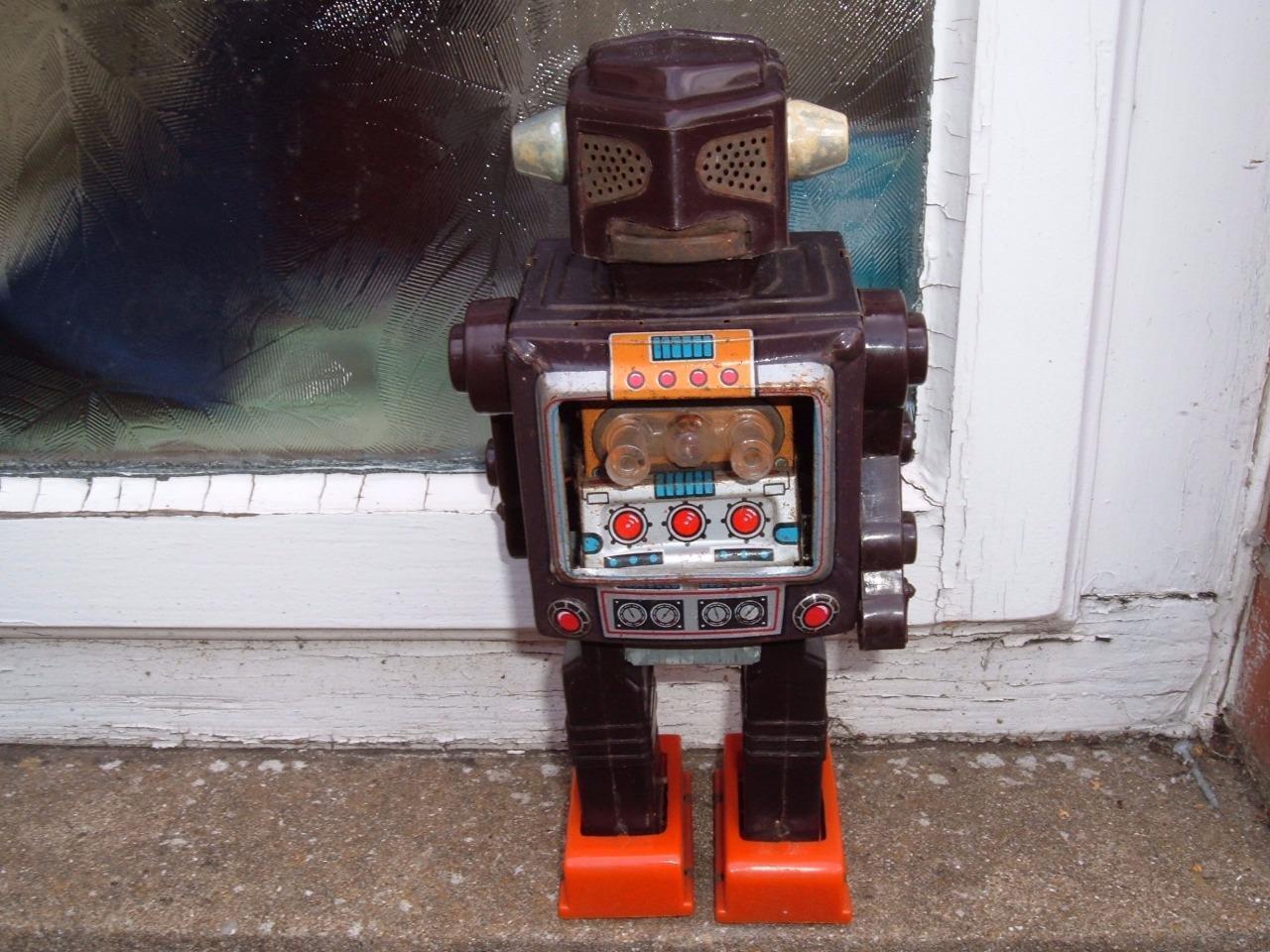 TELSALDA HORIKAWA  MR ZEROX  TINPLATE LITHO JAPAN ROBOT ORIGINAL UNTESTED