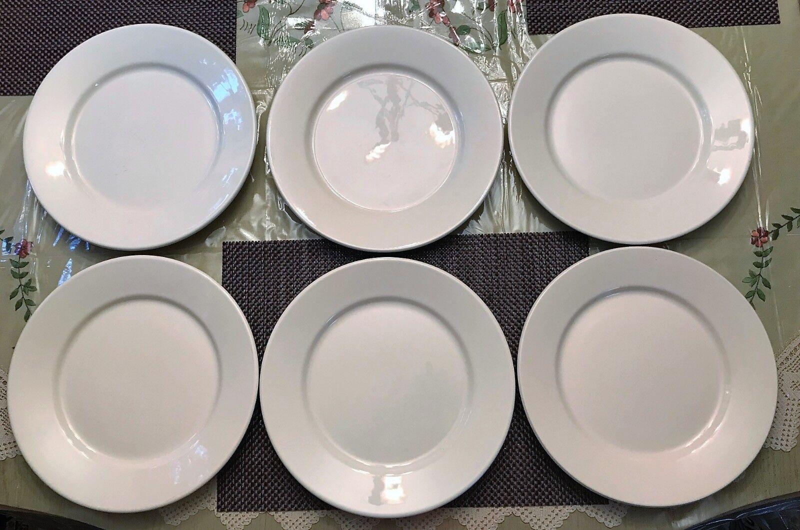 Barbara Eigen for PotteryBarn, Dana Dinner Plates, Made in Portugal Set 6