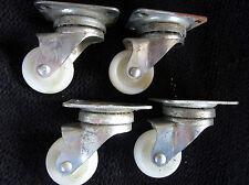 4 roulettes pivotantes PVC et métal  pour table/ desserte /meuble / fauteuil